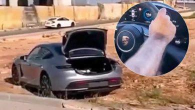 Photo of Αδέξιος Τούρκος οδηγός καρφώνει Porsche Taycan σε πλατεία (βίντεο)