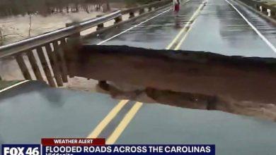 Photo of H στιγμή που καταρρέει γέφυρα σε ζωντανή σύνδεση, σχεδόν δίπλα στην δημοσιογράφο (vid)